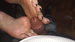 bbw cumshot on thick soles